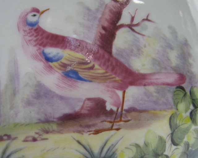 Pair of Porcelain Chinoiserie Wine Coolers with Exotic Painted Birds by Sevres