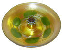 Golden Iridescent Favrile Glass Centerpiece with Frog by Tiffany
