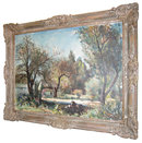Ladislaus Hlavka (Czech, 1899-? ) Wooded Landscape Oil Painting