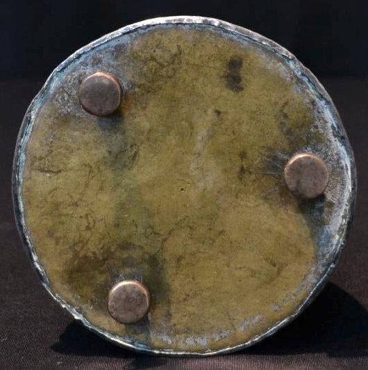 Antique Persian Qajar Period Silver and Copper Hookah