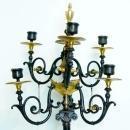 Pair Antique Grand Tour Neoclassical Candelabra