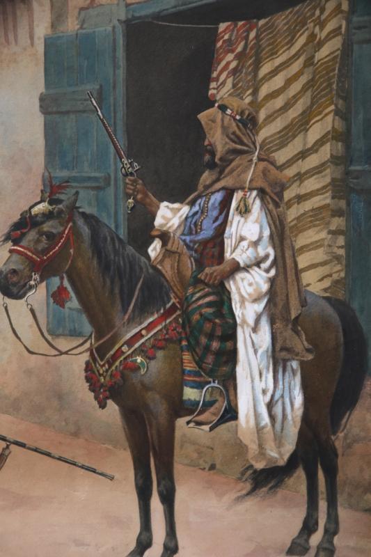 Giulio Rosati (1858-1917) Orientalist Watercolor Painting