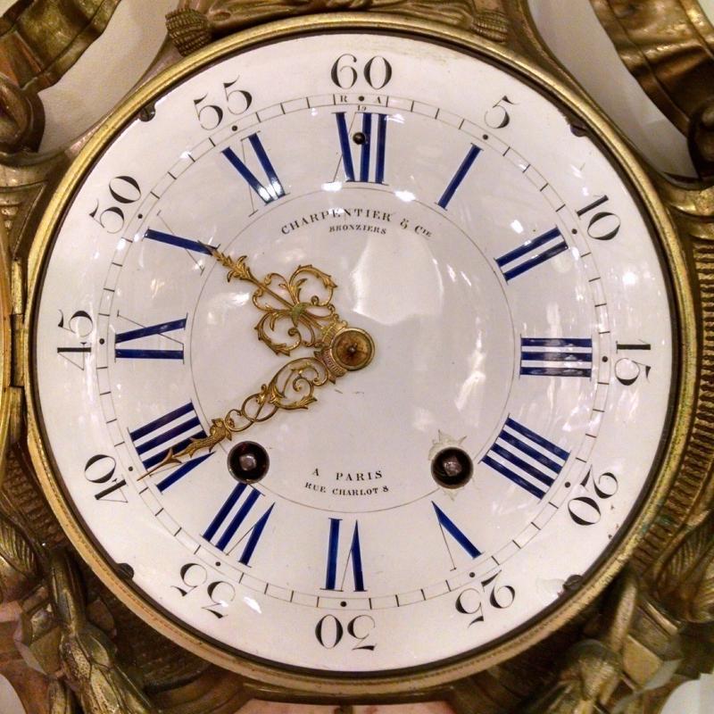 Charpentier et Cie Parsien Bronze Cartel Clock 1860s