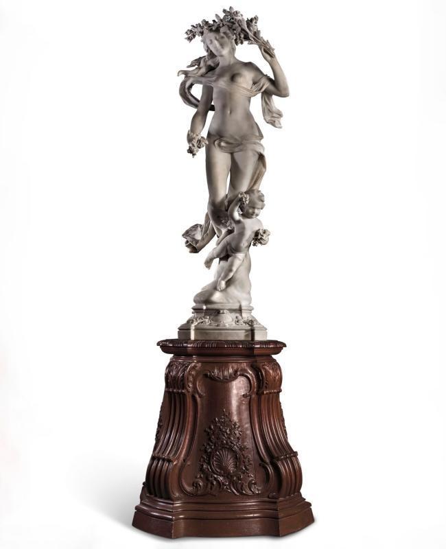 Aristide Petrilli Marble Statue Allegory for Love