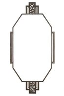French Art Deco Patinated Wrought Iron Overmantel Mirror