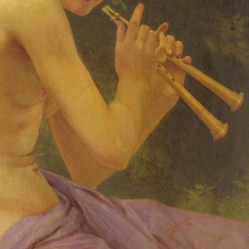 Guillaume Seignac (1870-1924) Neoclassical Portrait of a Faunesse