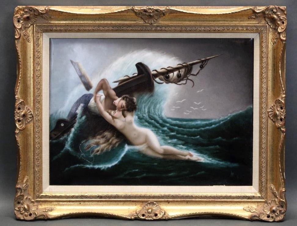 KPM Plaque Kiss of the Wave After Wertheimer