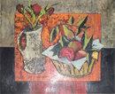 Tony Agostini (1916-1990) Mid-Century Floral Still Life Oil on Canvas