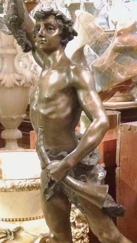 Acteon Greek Hunter Bronze Sculpture After Adrien Etienne Gaudez