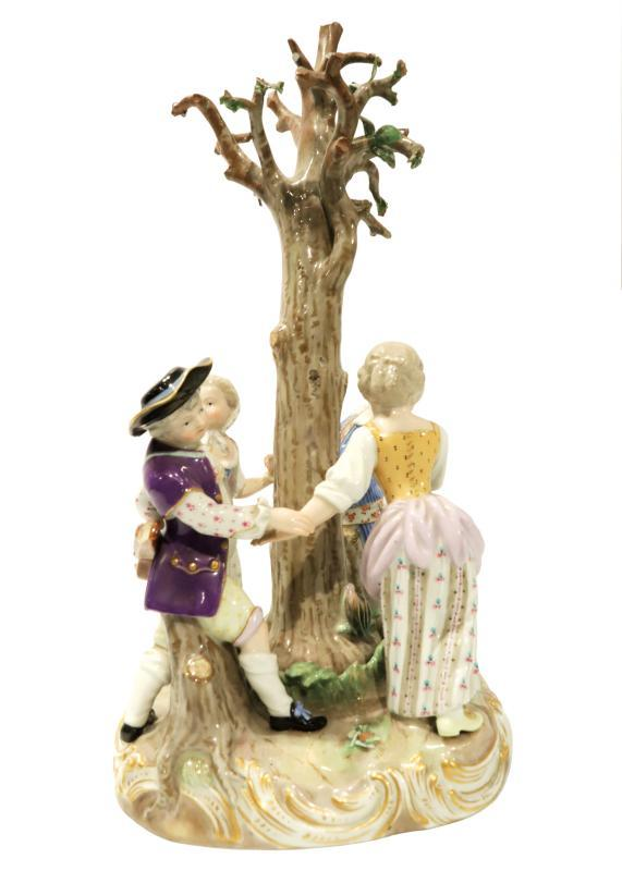 Meissen Group Figurine of Dancing Children Model 2728 After Kaendler
