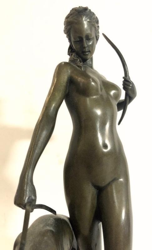 Diana and The Hound Art Deco Bronze Sculpture After Edward McCartan (1879-1947)