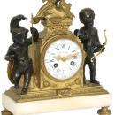Louis XVI Bronze Mantel Clock from Autray of Paris
