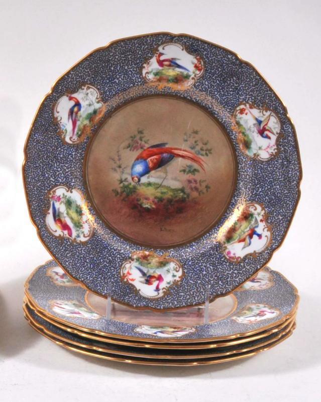 Set 12 Royal Doulton Cabinet Plates Depicting Game Birds