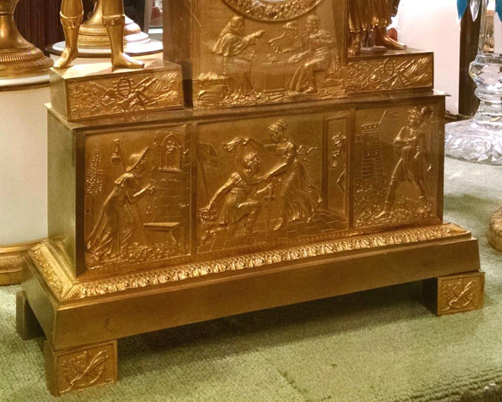 Air du Troubadour Renaissance Musical Theme Ormolu Bronze Mantel clock