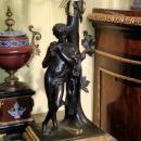 Pair Antique Grand Tour Neoclassical Candelabra