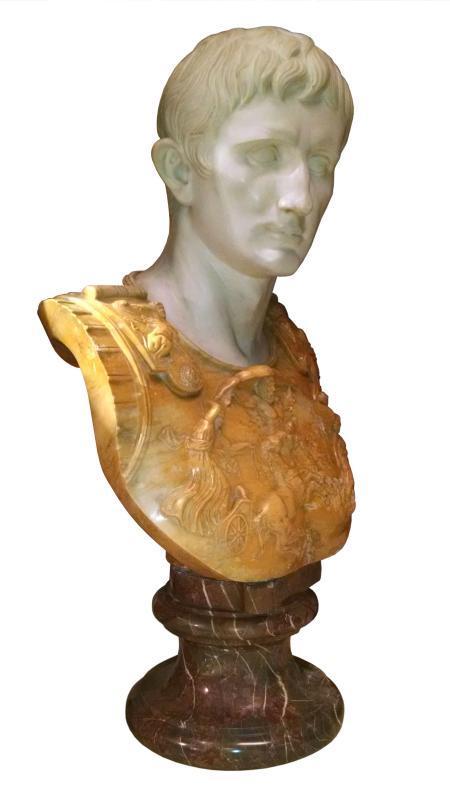 Augustus of Prima Porta Marble Bust Sculpture