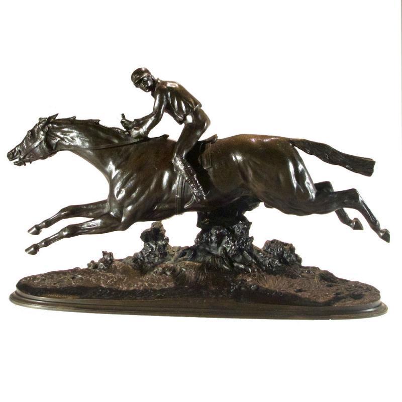 Thoroughbred Racehorse Equestrian Bronze After Pierre Lenordez