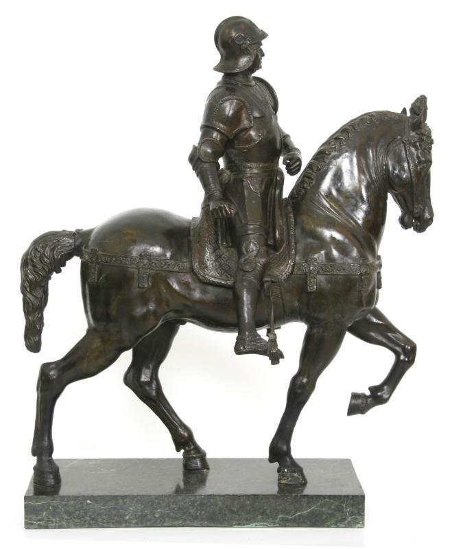 Grand Tour Bronze Statue of Colleoni After Verrocchio