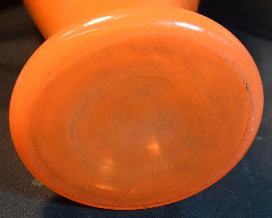 Charles Schneider Mottled Orange Glass Vase