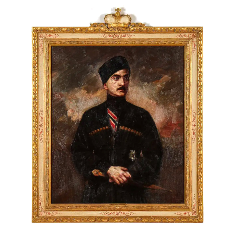Georges Matchabelli (1885-1935) Portrait Oil Painting