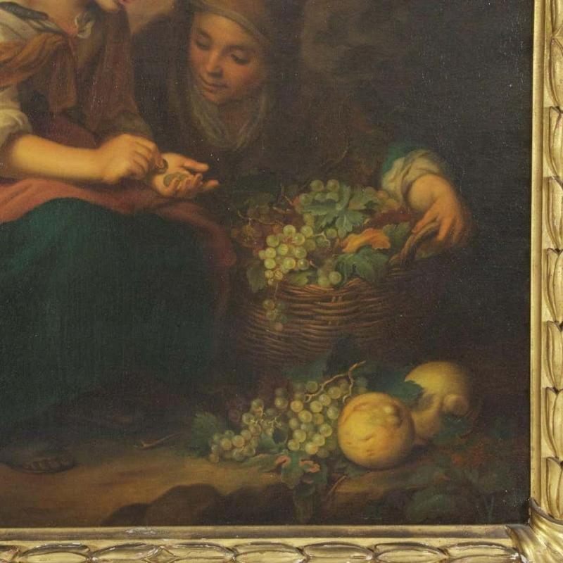 The Little Fruit Seller Oil on Canvas After Murillo