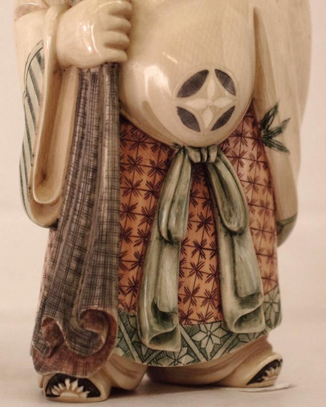 Japanese Polychrome Ivory Figurine