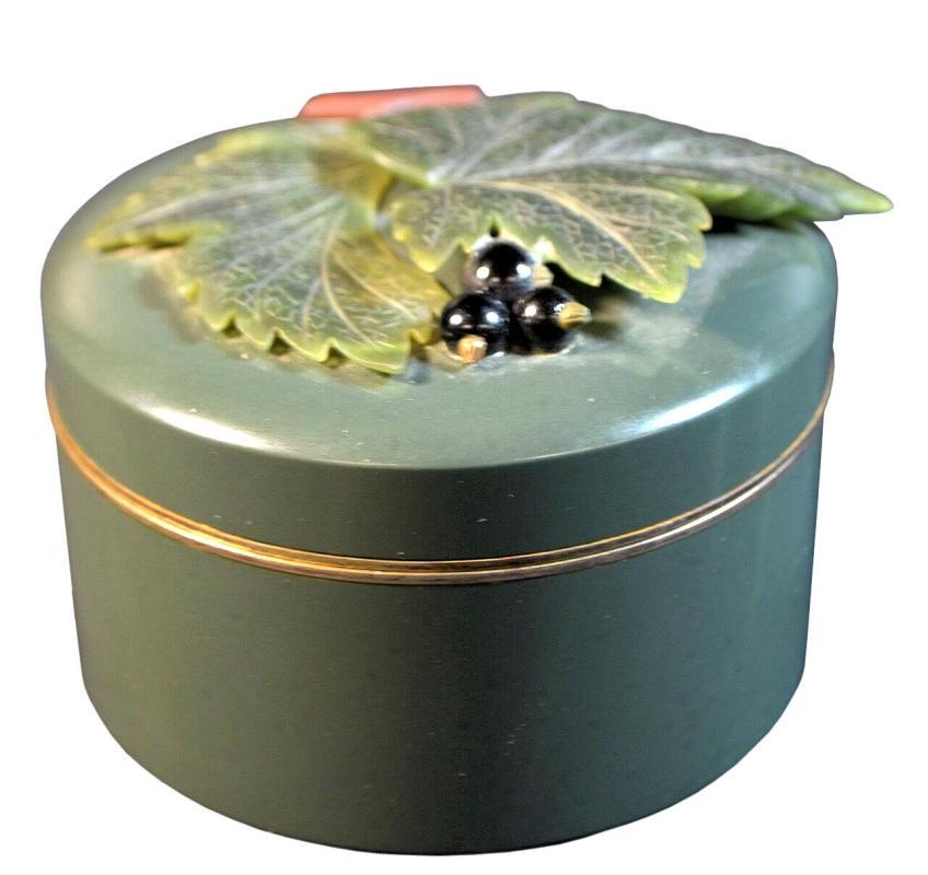 Vintage Russian Nephrite Enamel and Silver Dresser Box