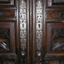 Antique Breton French Carved Oak Wedding Dower Armoire Wardrobe Cabinet