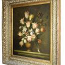Floral Still Life Framed Oil Painting by S. Lee (1944- )