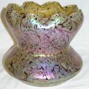 Large Kralik Bacillus Iridescent Glass Vase (9 in, 23 cm)