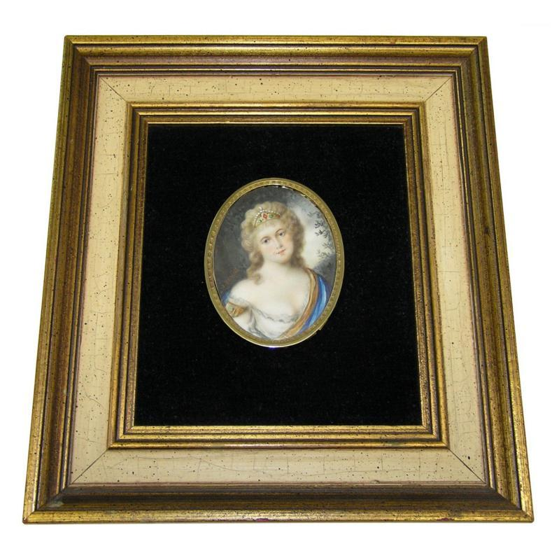 Brandl Miniature Female Portrait of Female Royalty