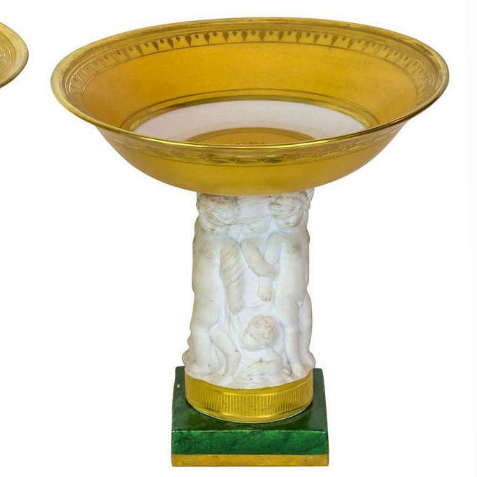 Paris Porcelain Tazza in Neoclassical Style