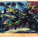 Eméric Vagh-Weinmann (1919-2012) Floral Still Life & Manhattan Cityscape Oil on Canvas