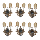 Set of Six (6) E.F. Caldwell Silverplated Sconces
