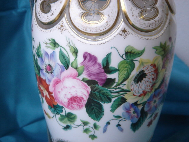 Our Service  __Wonderful  Circa 1880 Bohemian VASE _L@@K at the Skill of ART GLASS with Gold Decorations and the Hand Signature Wilh Hofmann Austria in faint gold script_ Priced to Smile