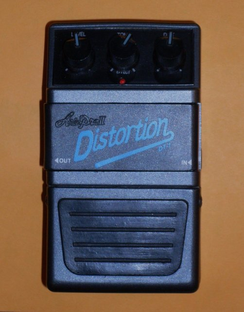Music Guitar Effects _ ARIA Distortion Peddle __Working Fine_ pre-owned_ from Larry Freisen well-known Band member_