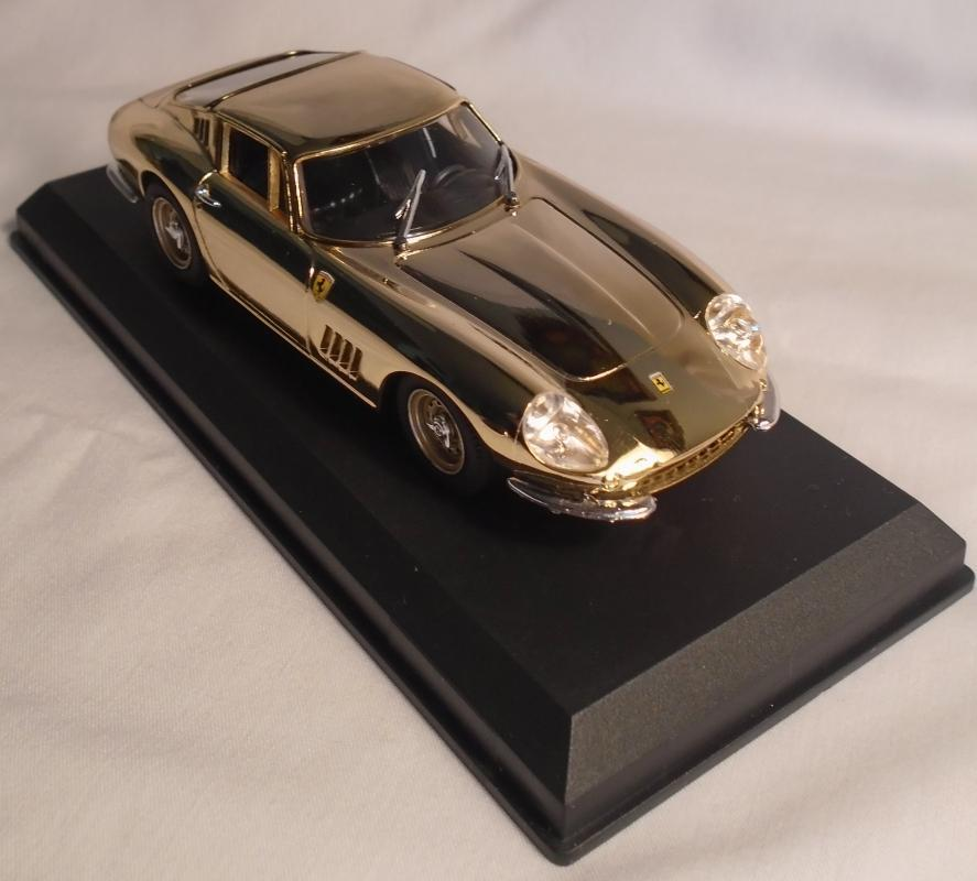 GOLD Plated 24 Kt Ferrari 275 GTB/4 diecast metal 1:43 BEST Ferrari Made in ITALY Rare Limited Edition