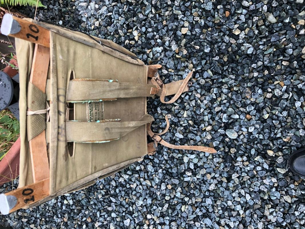New Listing _Vtg TRAPPER NELSON Indian pack board _ ORIGINAL_ for  age nice condition. With Jones Tent Awning Original sewn label.