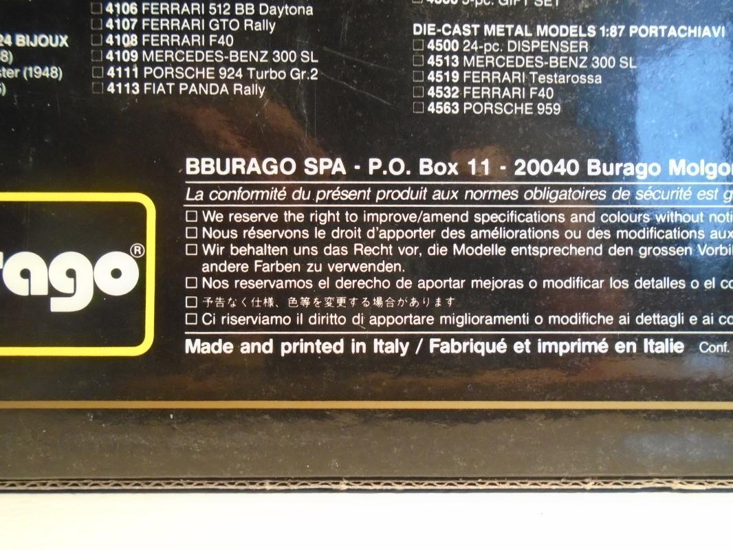 Direct from FERRARI FACTORY  SHOWROOM ITALY. _ FERRARI Testarrosa (1984) DIECAST 1/18 Original Box & Ferrari 250 GTO POSTCARD