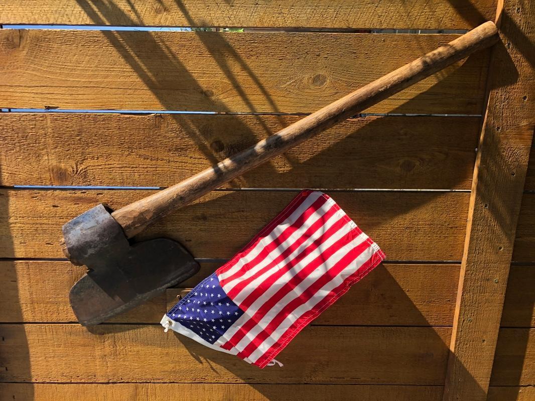C 1832 NEW YORK Broad Axe _ USA Historical Artifact _
