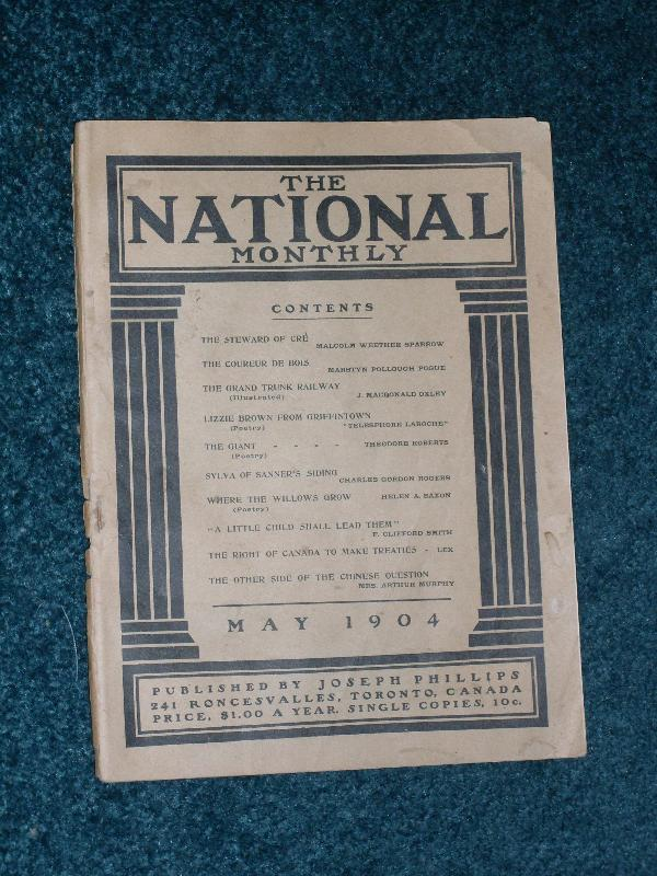 The National Monthly May 1904 published by Joseph Phillips Toronto, Canada