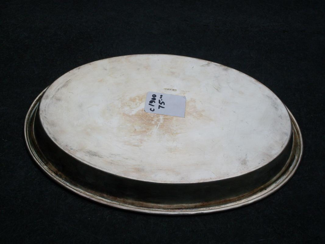 Early 1900 SILVER Oval Tray 10