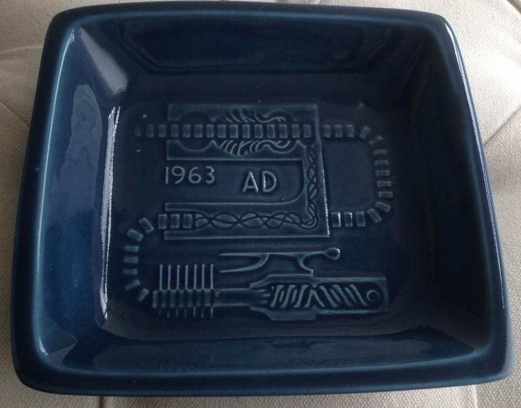 Plaque / Dish / Ashtray series _ HEAVY Quality _ Designed for Medicine Hat Brick + Tile Co. LTD _SIGNED: Luke Lindoe_EXPERT in INDUSTRIAL CERAMIC PRODUCTION _famed Canadian Painter, Sculptor, Potter _c1960's