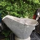 Antique Galvanized COAL SCUTTLE bucket with bail Handle_Excellent Structural Condition _ Nice Patina