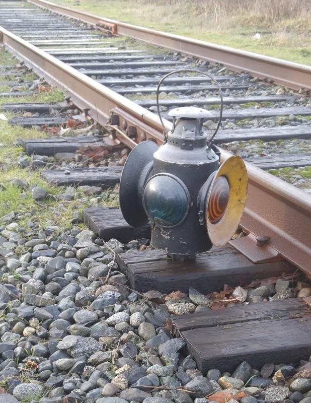 early ORIGINAL CANADIAN PACIFIC RAILROAD _CPR Railway Switch Lantern _ HLP_ M_ Montreal_