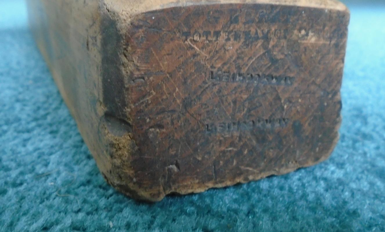 c1860s_RARE FIND  #1 G.BERRY TOTTENHAM COURT Rd BLADE Hearnshaw Bros. SHEFFIELD #2 John Moseley & Sons #3 A. MATHIESON WOODEN BLOCK MOLDING PLANE