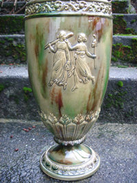 GENUINE ANTIQUE low price  $1199.00 ~~ LARGE  22 Inches Height _Majolica Urn  /  VASE   ~~ Showpiece upon Entering Home or Office ~~ CIRCA 1860 ~~ANTIQUE ROADSHOW ARTIFACT ~~ FANTASTIC FIND