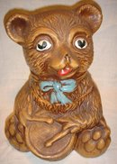 BEAR or Teddy Bear Cookie Jar Excellent Condition Maurice of CALIFORNIA Collectible