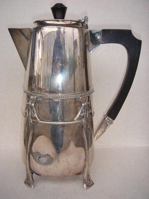 Art Nouveou SILVER Hot Water Pot ~~  Hallmarked  ~~ Very Good Condition
