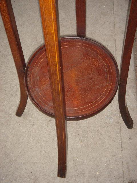 Edwardian Era - Fern  Plant Stand / Pot Stand Inlay work Top Legs Base Rare Find